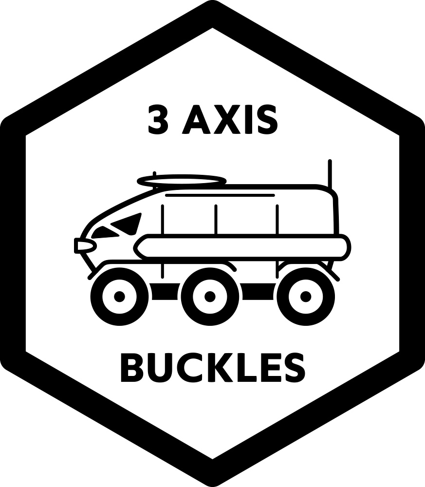 Alutech 3-Axis Buckles
