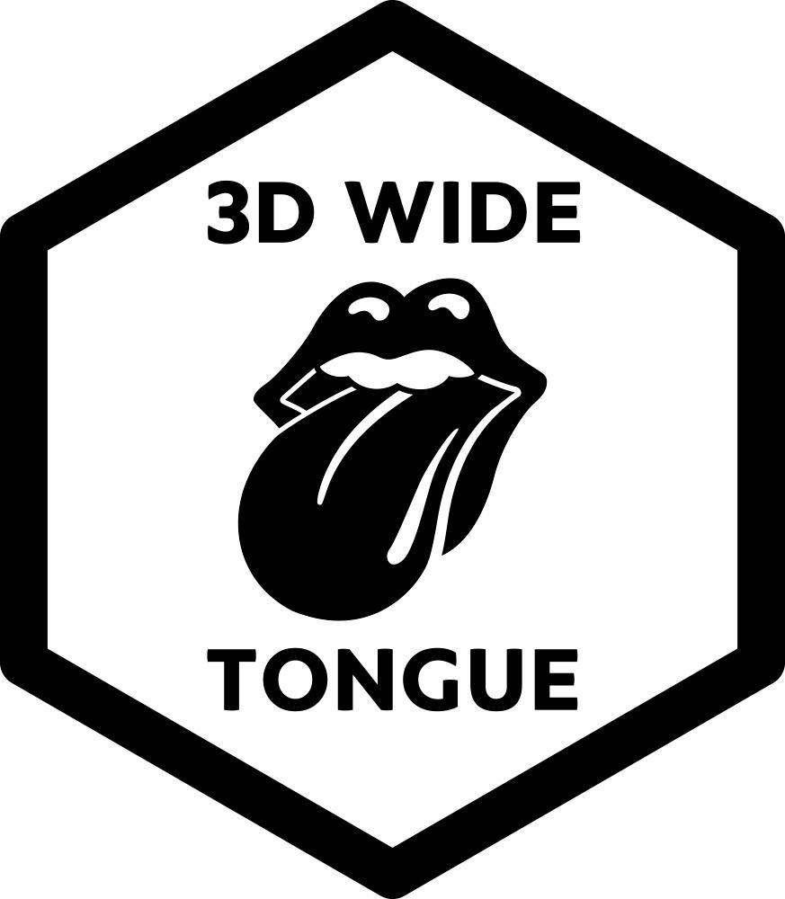 3D Wide Tongue