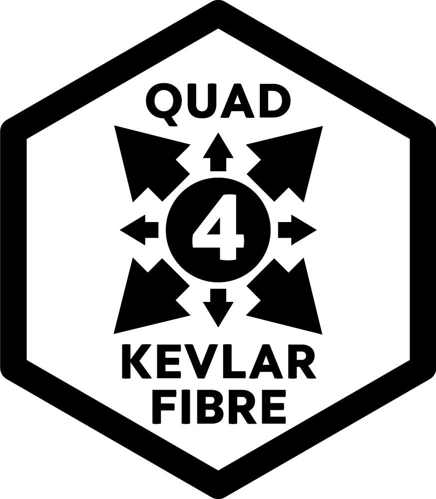 quad kevlar fibre
